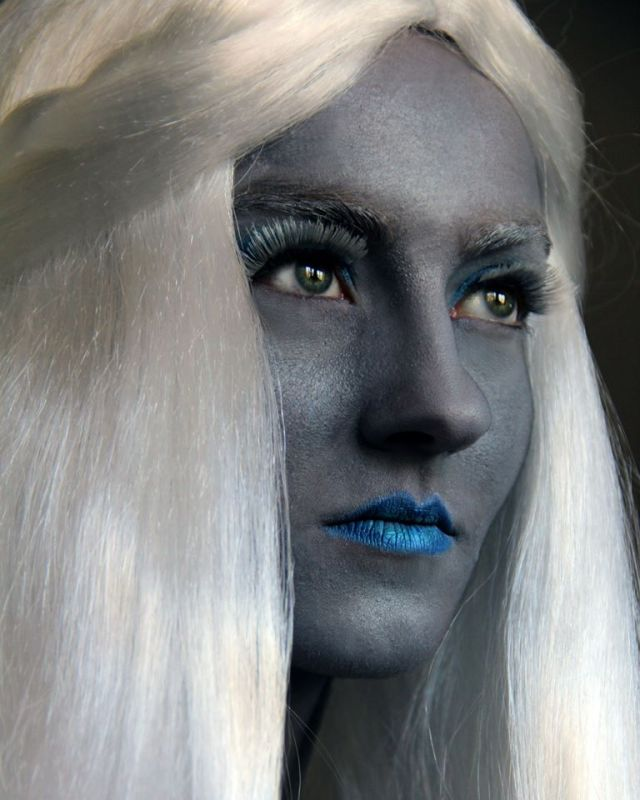 Marina Michelle as the dark elf Theleme.  Photo by Risa Scott.