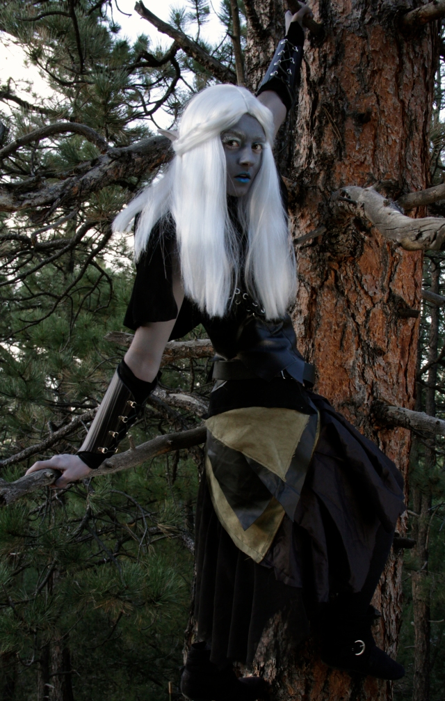Marina Michelle, as the Dark Elf, Thelema.